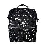 Vinlin Black Scientific Math Formula Sac à langer pour maman Dad Unisexe Grande...