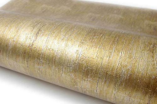 Lime Gold Pearl Interior Film Self Adhesive Peel-Stick Removable Wallpaper