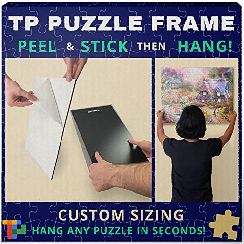 Jigsaw Puzzle Frame - Peel, Stick, Hang Any Size Puzzle in Seconds - Custom Fit to Your Puzzle - Save and Preserve - by Twist Pixel