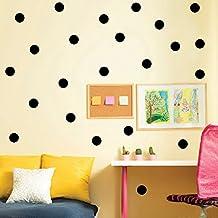 Ferris Store 20 stks Prachtige Polka Dot Muurstickers Decal Kinderen Kids Vinyl Art Decor Vlekken Muurschilderingen, Zwart