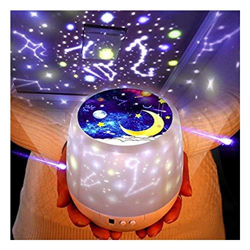 Ascendons Star - Lámpara de proyección Nocturna para niños, diseño de Estrella romántica de Estrella del mar, para cumpleaños, Navidad, para Dormitorio, 5 Juegos de películas
