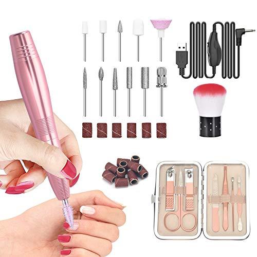 SHAWLAM Fresa eléctrica de uñas, lima eléctrica de uñas, set de manicura,...