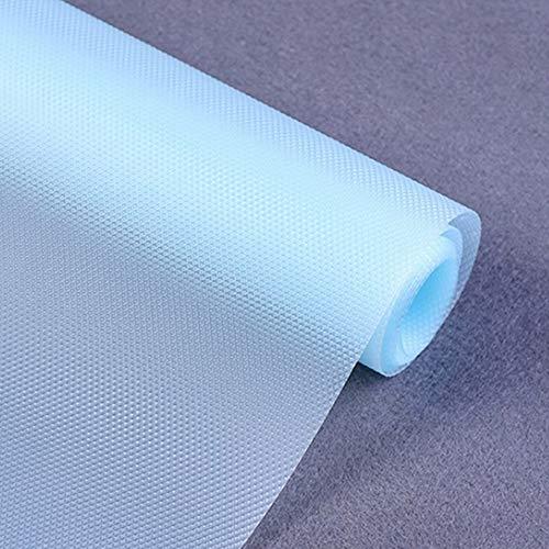 Vinjiasin - Revestimiento para estantes (35 x 118 cm), color azul, antideslizante, resistente al agua, lavable, para el refrigerador, sin olor para el hogar y la cocina