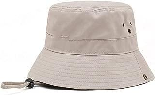ZRL77y Womens Summer Bucket Hat,Foldable Wide Brim Floppy,Women Outdoor Sunhat,Chin Strap-Adjustable (Color : Beige)