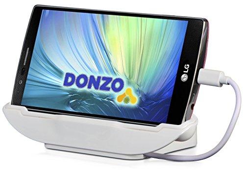 DONZO USB Docking-Station Ladegerät für Sony Xperia Z3 / Z3+ / Z4 inkl. micro-USB Daten-Kabel Weiß