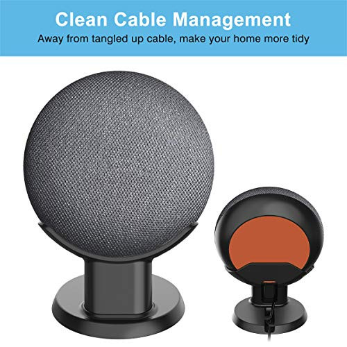 SPORTLINK Pedestal for Nest Mini (2nd Gen) and Google Home Mini (1st Generation) Improve   s Sound Visibility and Appearance - A Must Have Mount Holder Stand for Nest Mini (2nd Gen)/ Google Mini (Black)