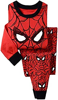 Foreign Trade Export, European and American Children's Clothing and Explosion-proof Pure Cotton Long-sleeve Printed Spider-man Home-made Pajamas, Two-piece Suit