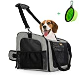 MARKSIGN Pet Booster Seat with Built-in Tether and Removable Plush Liner, Pet...