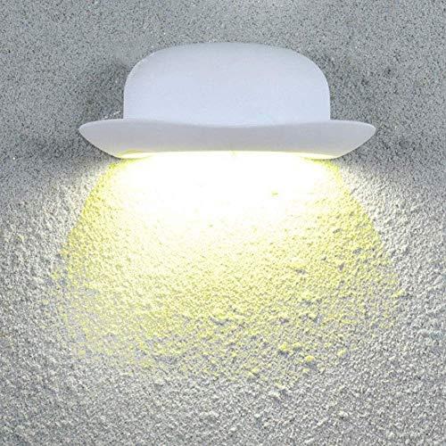 Beautiful Home Decoration lampen Light Shape 12W LED binnenlamp hoed modern design wit aluminium wandlampen 3000K warm licht voor 's nachts galerij balkon A