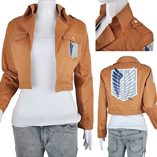 Fashion Attack On Titan Jacket Shingeki No Kyojin Scouting Legion Jacket Costume for Party Cosplay, M by Generic