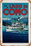 Lago Di Como Wall Tin Sign Retro Iron Poster Painting Plate