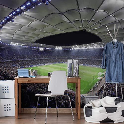 Fototapete HSV Arena bei Nacht - hochwertig Vlies - 336x260 cm - K&L Wall-Art
