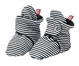 Zutano Unisex-Baby Newborn Candy Stripe Booties, Black, 3 Months