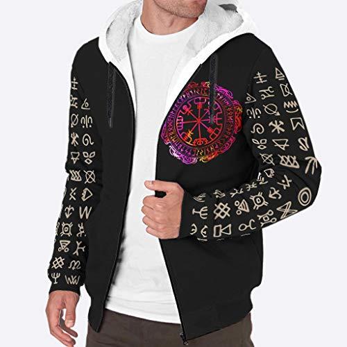 Ainiteey Premium-Qualität Warme Jacke mit Sherpa-Futter mit Classic Fit für Ehemann Vater Vater Onkel Großvater White 3XL