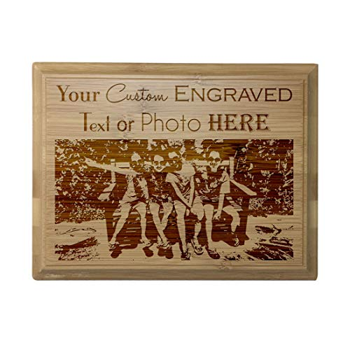 Custom Personalized 3D Laser Engraved Red Alder Finish Plaque with Your Personal Message, Text, Logo, or Photo - Wedding, Housewarming, Anniversary, Birthday, Father's Day, Christmas, Gift (8X10)