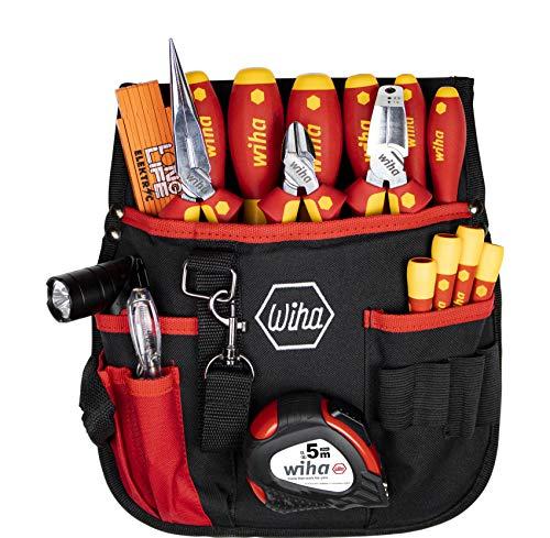 Wiha Juego de herramientas para electricista (18 piezas, incluye funda para cinturón)