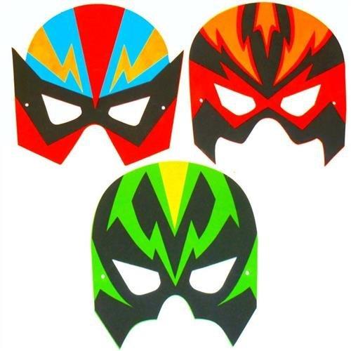 4 Super-héros façade masks.EVA ,CERTIFIED.PLAYWRITE GROUPE,POCHETTE SURPRISE