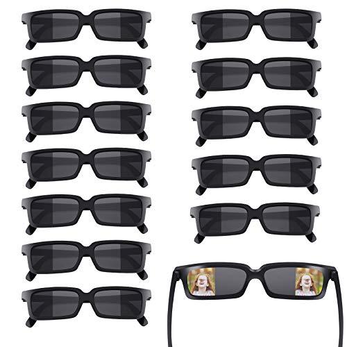 Herefun 12 Stück Rückansicht Brille, Spion Brille Rückspiegel, Agentenbrillen Spy Brille für Kinder Spion Brille Geburtstagsfeier Neujahrsparty Geschenk (Schwarz)