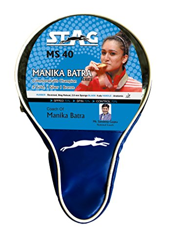Stag Manika Batra MS-40 Table Tennis Racquet( Multi- Color, 186 grams, Intermediate )