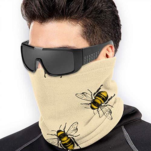LONGYUU Hart arbeitende Nette Bienen-Schal-Bandana-Gesichtsmasken-Ansatz-Gamasche-Mann-Damen-Kopfbedeckungs-Multifunktionsfür Winter-kaltes Wetter halten warm für Mens Womens
