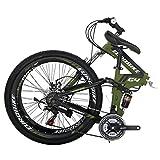 Folding Bike G4 21 Speed Mountain Bike 26 Inches 36 Spoke Wheels Dual