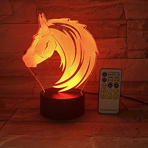 Télécommande ou Commande Tactile Cheval Jouet Couleur Animal Nuit Lampe de Table Lampe Lave bébé Lampe de Chevet