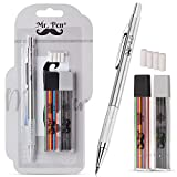 Mr. Pen- Mechanical Pencils 2mm, Metal Mechanical Pencil with 2 Pack of Lead and Eraser, Drafting Pencil, Drawing Pencil, Thick Mechanical Pencil, 2.0mm Pencils, Artist Mechanical Pencils, 2mm Pencils