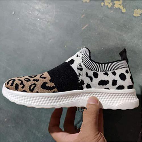 Oceansee Vulcanized Zapatos De Las Mujeres De Malla Transpirable Plataforma Zapatillas De Deporte De Las Señoras Pisos Suave Casual Caminar Calcetín Zapatos De Mujer Más Tamaño Negro 42