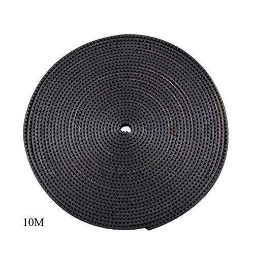 NO LOGO L-Tao-Pulley, 1pc 10 Metros Gt2 10 mm / 6 mm de Correas GT2-10mm / 6 mm Ancho Correa Dentada Abierta de 10 mm / 6 mm GT2 Correa de Goma GT2 10mm / for Impresora 3D (tamaño : 10M GT2 10mm)