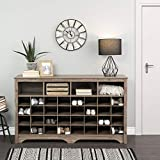 Prepac Entryway Shoe Cubby Console, 60', Drifted Gray