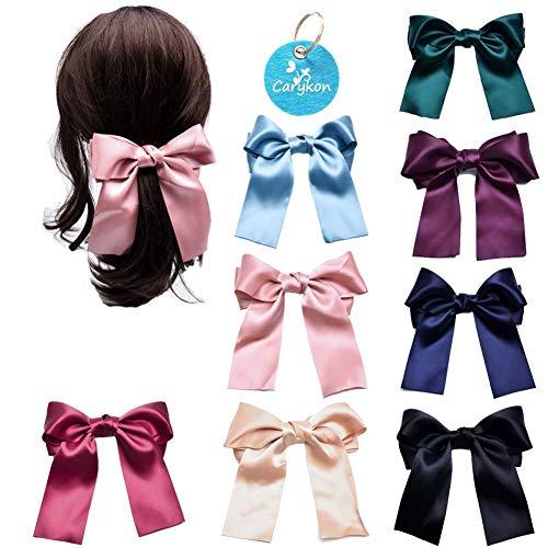 Carykon Haarspangen mit Schleife, für Mädchen, Frauen, 8 Stück