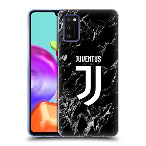 Head Case Designs Ufficiale Juventus Football Club Nero Marmoreo Cover in Morbido Gel Compatibile con Samsung Galaxy A41 (2020)