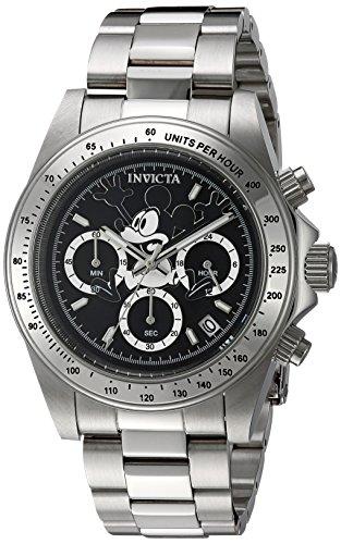 Invicta 22864 Disney Limited Edition - Mickey Mouse Orologio da Unisex acciaio inossidabile Quarzo quadrante nero