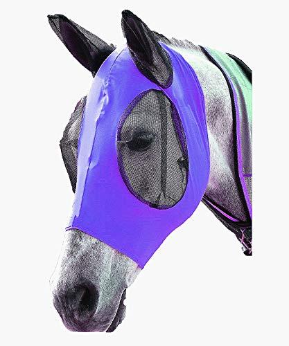 ciraume - Maschera Anti-Mosche per Cavalli, Anti-UV, con Orecchie, Protezione Anti-Mosche per Cavalli, Coccinelle, Pony