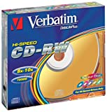 Verbatim CD-RW, 700 MB/80 Minuten - 12-fache Brenngeschwindigkeit, hochwertiger CD-Rohling - Jewel...