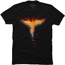 Design By Humans Fire Phoenix Men's Graphic T Shirt