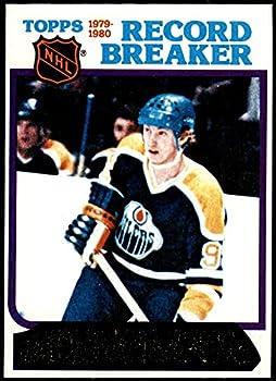 1980 Topps # 3 Record Breaker Wayne Gretzky Edmonton Oilers-Hockey  Hockey Card  EX Oilers-Hockey