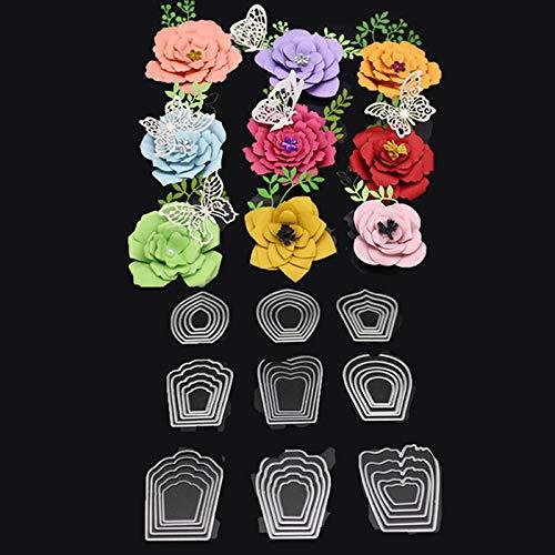 Sungpunet Serie de Troqueles de Corte en Relieve con Patrones de Flores para DIY Creación de Tarjetas de Papel de Álbum de Recortes