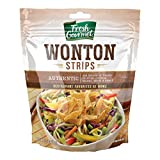 Fresh Gourmet Authentic Wonton Strips   3.5 Ounce, Pack of 9   Low Carb   Crunchy Snack and Salad Topper