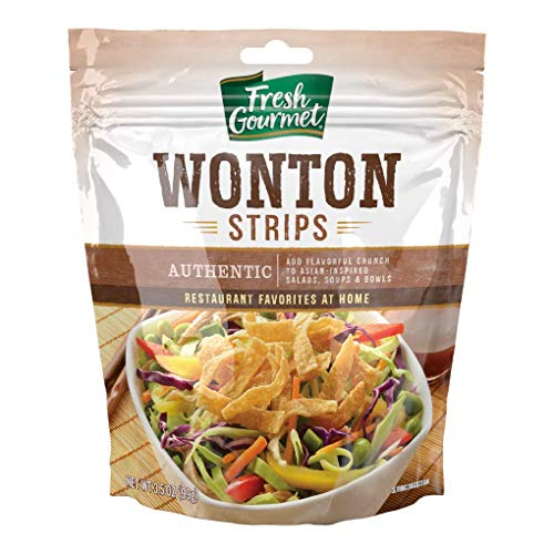 Fresh Gourmet Wonton Strips, Authentic, 3.5 Ounce (Pack of 9)