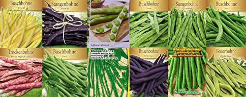 Bohnensamen Set Mix Garten Bohnen Samen Saatgut 12 Sorten Quedlingburger Speck Saxa Jutta