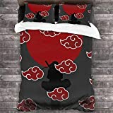 Amme Anime Bedding Set 3D Printed Anime Bed Set Twin Size Soft 3pcs Duvet Cover Set (No Comforter) for Kids/Adults