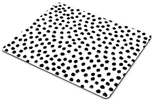 Smooffly Polka Dots Gaming Mouse pad Cuscom,Brush Strokes Dots Personality Desings Rectangle Non-Slip Rubber Mousepad 9.5 X 7.9 Inch (240mmX200mmX3mm) Photo #4