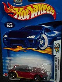 2003 First Editions -#17 Golden Arrow Cranberry #2003-29 Collectible Collector Car Mattel Hot Wheels
