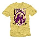 Camiseta Bob Marley Amarilla XL