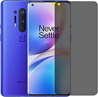 Privacy Screen Protector, Anti Spy Full Adhesive, Touch Accurate, 3D Curve Edge Nano Shield Soft Film for OnePlus 8 Pro