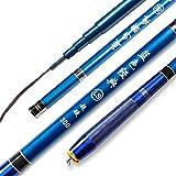 GXYWPF 1.8M,2.1M,2.4M,2.7M,3.0M,3.3M,3.6M,4.5M Ultraligero Super Duro 19 Vara De Calamar Fibra de Carbono Combo de Pesca Caña de Pesca Telescópica 100% Fibra De Carbono Flexible CañA De Pescar,3.6m