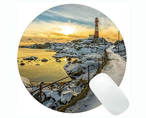 Yanteng Gaming Mouse mats,Lighthouse Sea Cliffs Water Away Road Mouse Pads