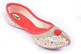 Rajasthan Nagra Foot Collection Royale Women & Girls' Jutti (Blue)