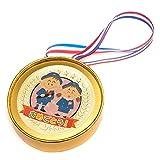 卒園式 おめでとう 金メダル お菓子 飴 キャンディ 幼稚園 保育園 行事 イベント 金